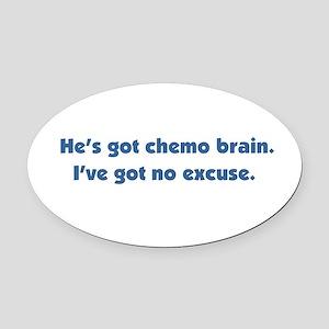 He's Got Chemo Brain Oval Car Magnet