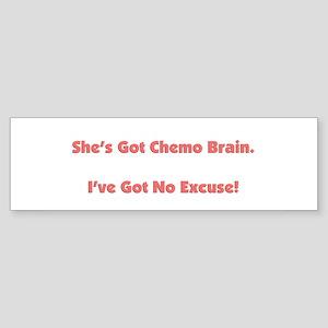 She's Got Chemo Brain Sticker (Bumper)