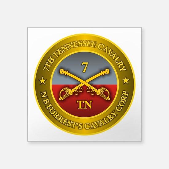 """7th Tennessee Cavalry Square Sticker 3"""" x 3"""""""