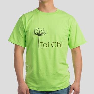 """Tai Chi Growth"" Green T-Shirt"