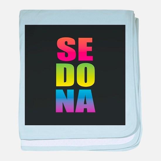 Sedona Black Rainbow baby blanket