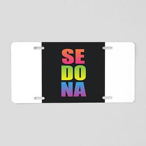 Sedona Black Rainbow Aluminum License Plate