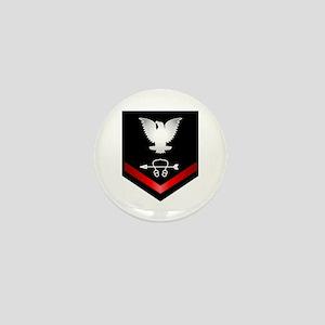 Navy PO3 Sonar Technician Mini Button