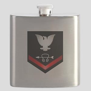 Navy PO3 Sonar Technician Flask