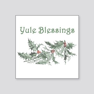 """Yule Blessings Square Sticker 3"""" x 3"""""""