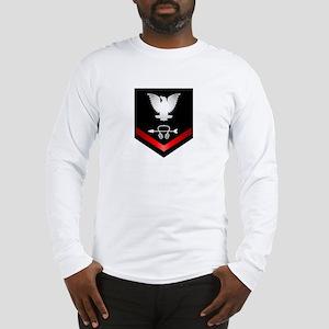 Navy PO3 Sonar Technician Long Sleeve T-Shirt