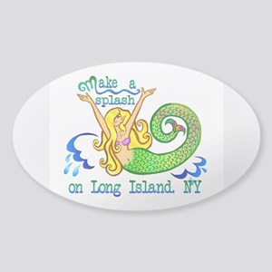 Make a Splash Sticker (Oval)