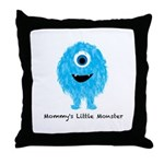 Mommys Monster Blue Throw Pillow