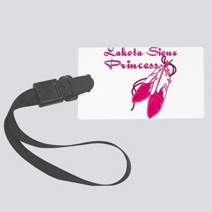 Lakota Sioux Princess Large Luggage Tag
