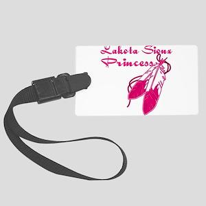Lakota Sioux Princess Large Luggage Tag
