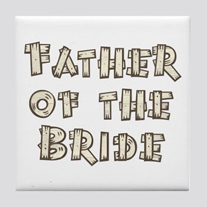 Country Father of the Bride Tile Coaster