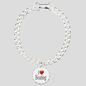 I Love Boating Charm Bracelet, One Charm