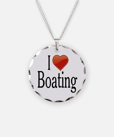 I Love Boating Necklace