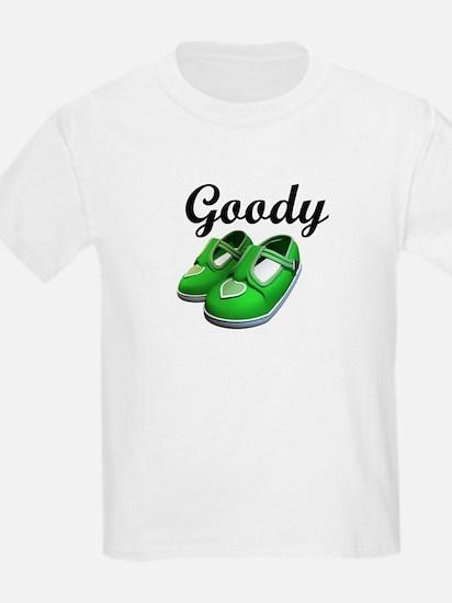 Goody Two-Shoes Green Kids T-Shirt