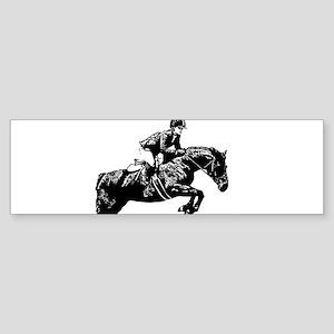 AFTM BW Jumping Horse2 Sticker (Bumper)