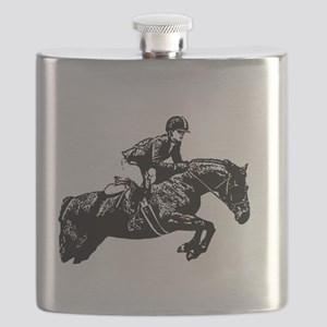 AFTM BW Jumping Horse2 Flask