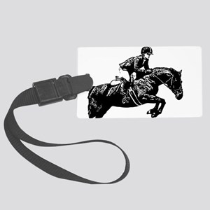 AFTM BW Jumping Horse2 Large Luggage Tag