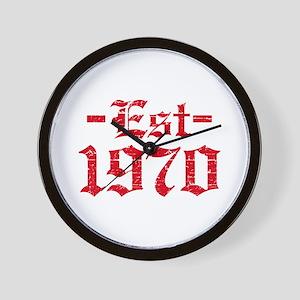 Established in 1970 Wall Clock