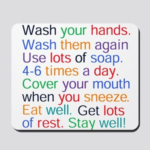 HEALTH REMINDERS Mousepad