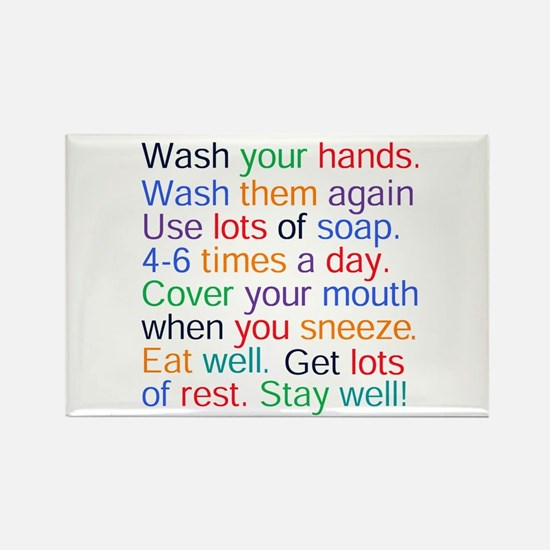 HEALTH REMINDERS Rectangle Magnet