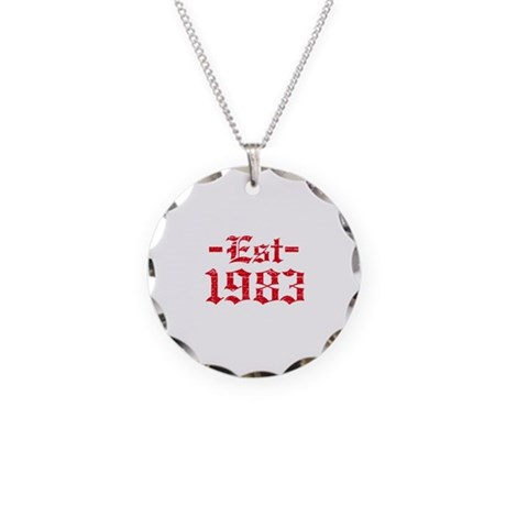 Established in 1983 Necklace Circle Charm
