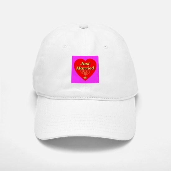 Just Married Jewish Theme Baseball Baseball Cap