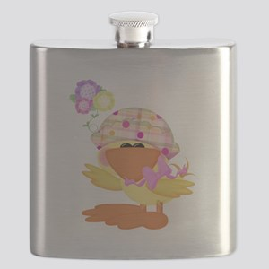 baby girl spring ducky Flask