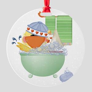 cute bathtime ducky Round Ornament