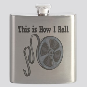 How I Roll Movie Film Tape Flask
