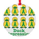 depression ducks.png Round Ornament