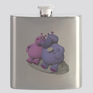 hippos in love copy Flask