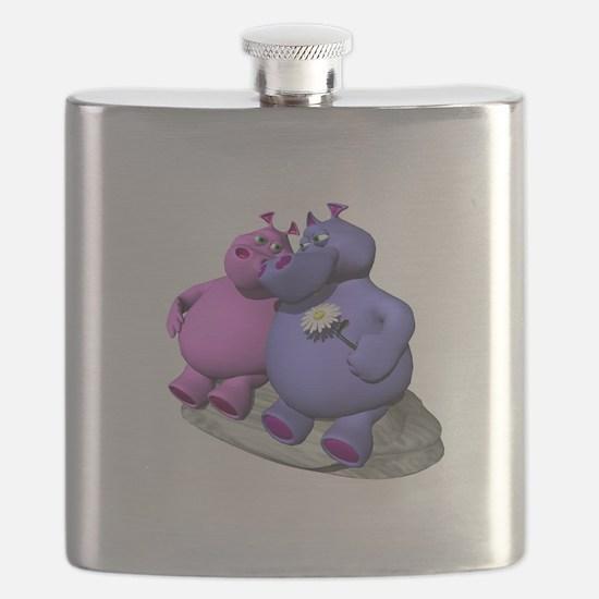 hippos in love copy.jpg Flask