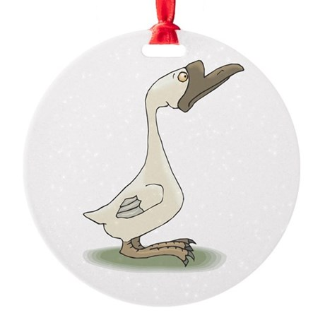 silly goose copy.jpg Round Ornament