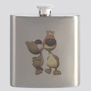 silly kissing bears copy Flask