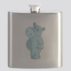 cute standing hippo copy Flask