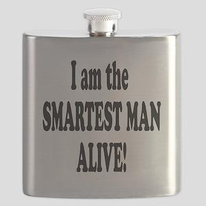 SMARTEST MAN ALIVE Flask