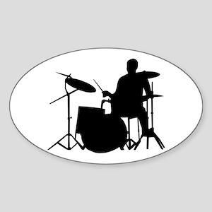 Drummer Oval Sticker