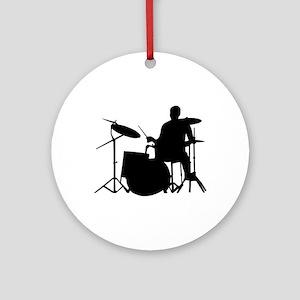 Drummer Ornament (Round)