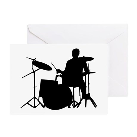 Drummer Greeting Cards (Pk of 10)