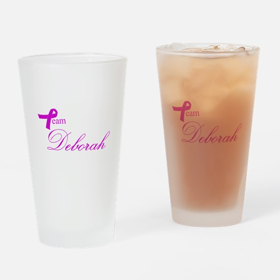 Team Deborah Drinking Glass