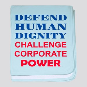 Defend Human Dignity baby blanket