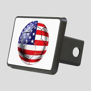 USA Soccer Ball Rectangular Hitch Cover