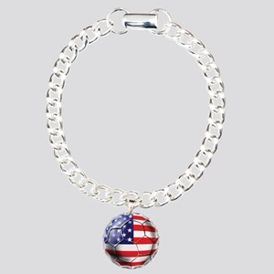 USA Soccer Ball Charm Bracelet, One Charm