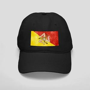 Sicily Flag Black Cap
