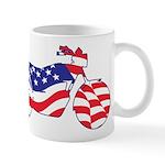 Motorcycle in American Flag Mug
