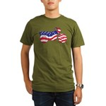 Motorcycle in American Flag Organic Men's T-Shirt