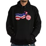 Motorcycle in American Flag Hoodie (dark)