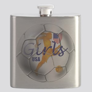 USA Girls Soccer Flask