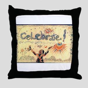 Celebrate! Throw Pillow