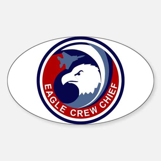F-15 Eagle Sticker (Oval)